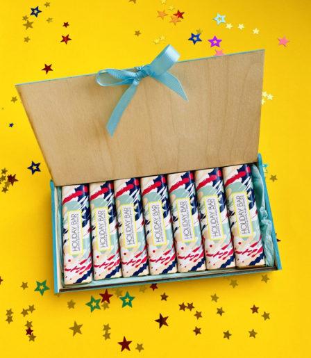 Подарочный набор с шоколадными батончиками