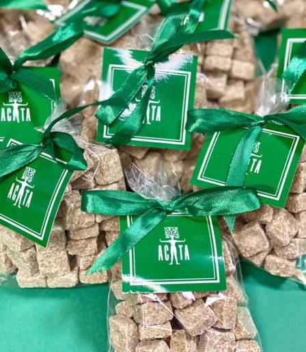 Тростниковый сахар кусковой с логотипом
