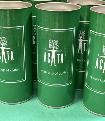 Кофе и чай 100 гр. с логотипом компании