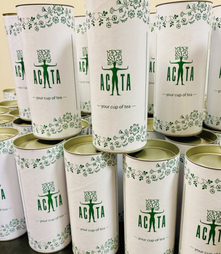 Чай в тубусе 100 гр с логотипом заказчика